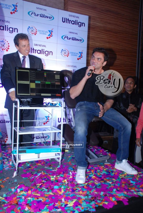 Sohail Khan addresses the media at the Pure Wave Launch