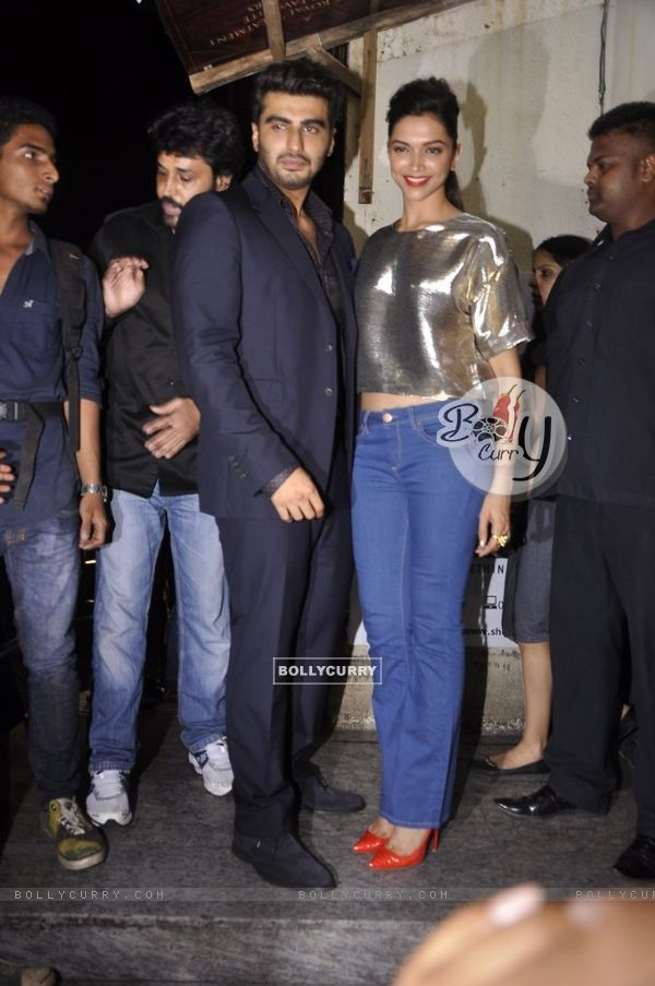 Arjun Kapoor and Deepika Padukone were at the Screening of Finding Fanny