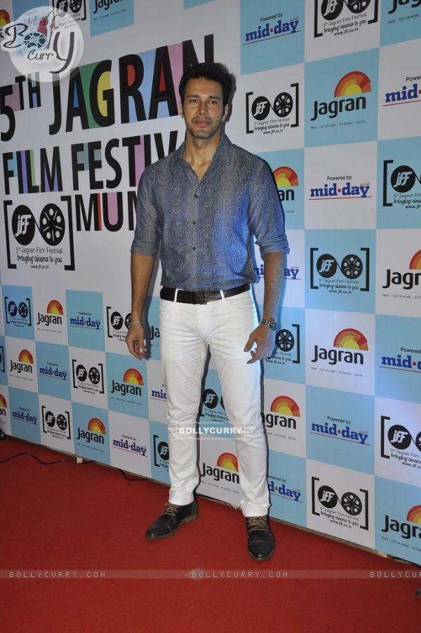 Rajneesh Duggal poses for the media at 5th Jagran Film Festival Mumbai