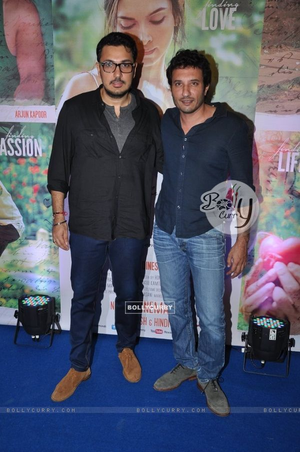 Homi Adajania and Dinesh Vijan pose for the media at the Success Bash of Finding Fanny (337278)