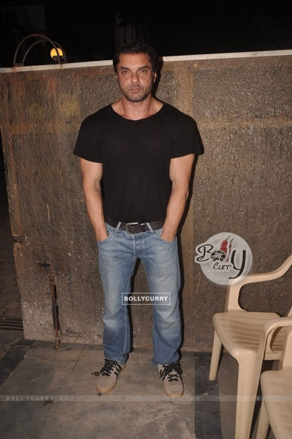 Sohail Khan poses for the media at Rajkumar Kohli's Birthday Bash
