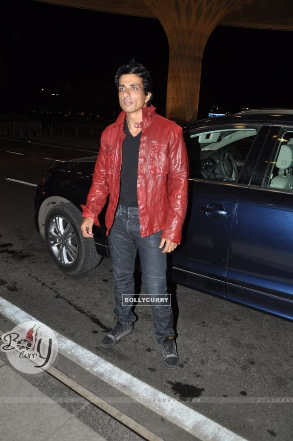 Sonu Sood snapped at Airport while leaving for Slam Tour
