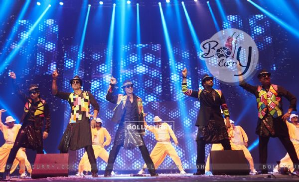 Cast of Happy New Year perform at the Slam Tour in Sears Center Arena, Chicago