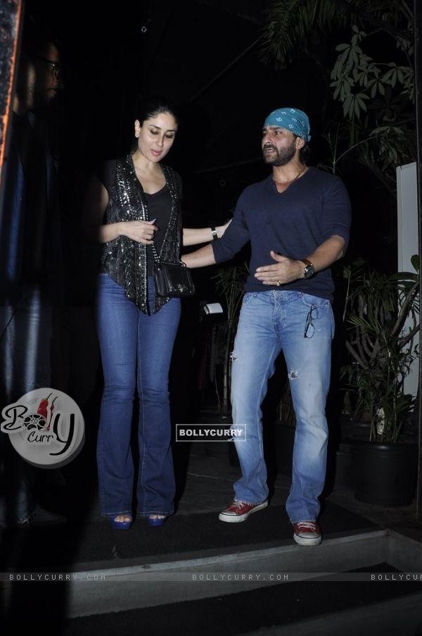 Saif Ali Khan and Kareena Kapoor snapped at Nido
