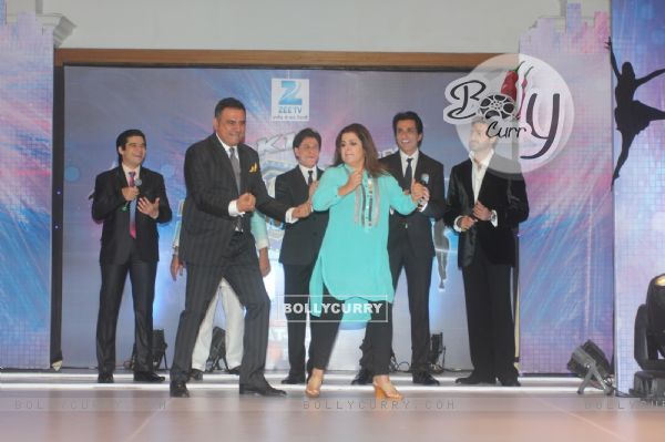 Boman Irani and Farah Khan perform at the Dil Se Naache Indiawaale Launch