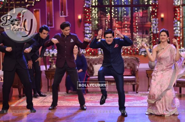 Happy New Year Team performs on Comedy Nights with Kapil