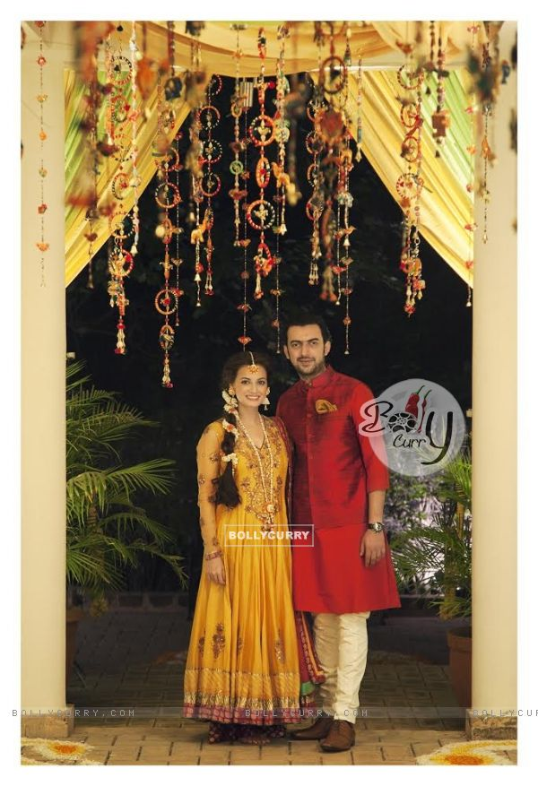 Dia Mirza and Sahil Sangha's Mehendi Ceremony held in Delhi on 16th October, 2014