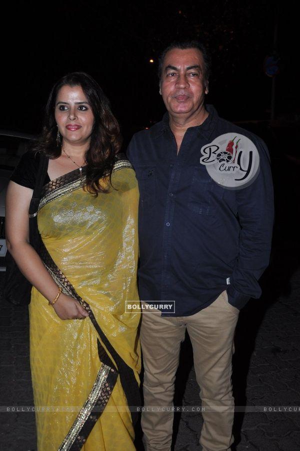 Pradeep Rawat poses with wife at Aamir Khan's Diwali Bash