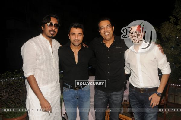 Celebs Pose For The Media At Diwali Celebration Of Bcl Team Rowdy Bangalore Ajaz Khan Event Photo Gallery 342223