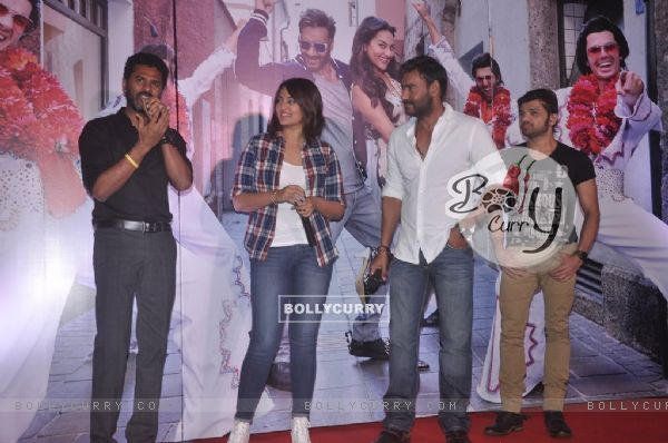 Prabhu Deva interacts with the audience at the Song Launch of Action Jackson