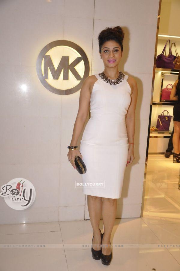 Tanishaa Mukerji poses for the media at Michael Korrs Store Launch