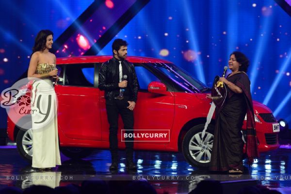 Gauahar Khan, Himmesh and GM of Maruti Suzuki Swift on India's Raw Star