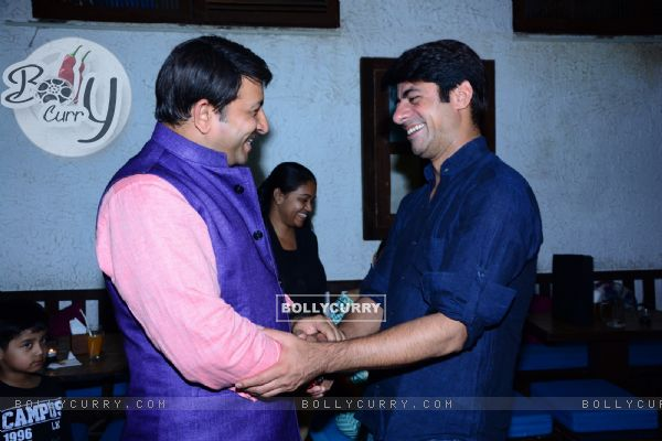 Manoj & Sushant in a chat at Savdhaan India completes 1000 episodes celebration
