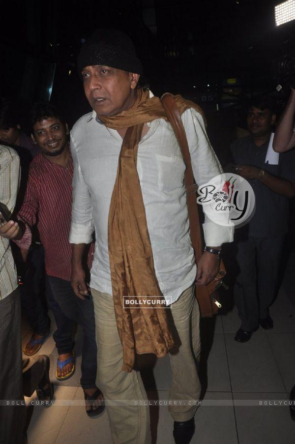 Mithun Chakraborty was snapped at airport while returning from Arpita Khan's Wedding