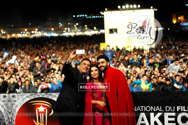 Boman Irani gets a selfie at the 14th Marrakech International Film Festival