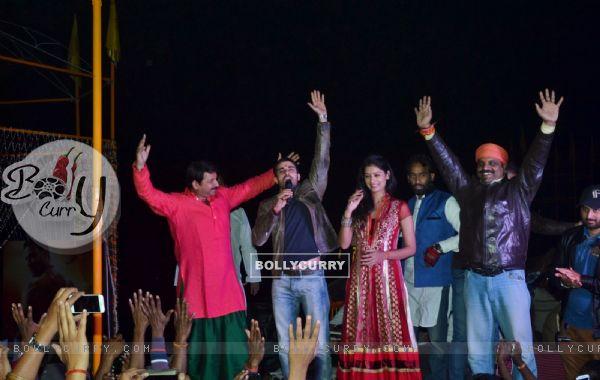 Gautam Rode greets the gathering at the Mahakumbh Launch in Varanasi