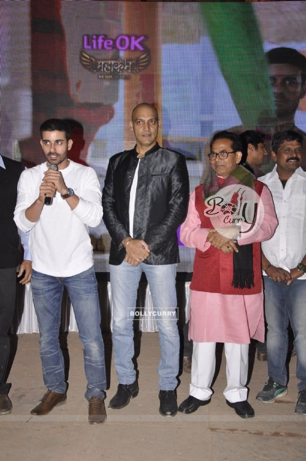 Gautam Rode addressing the audience at the Launch of Mahakumbh