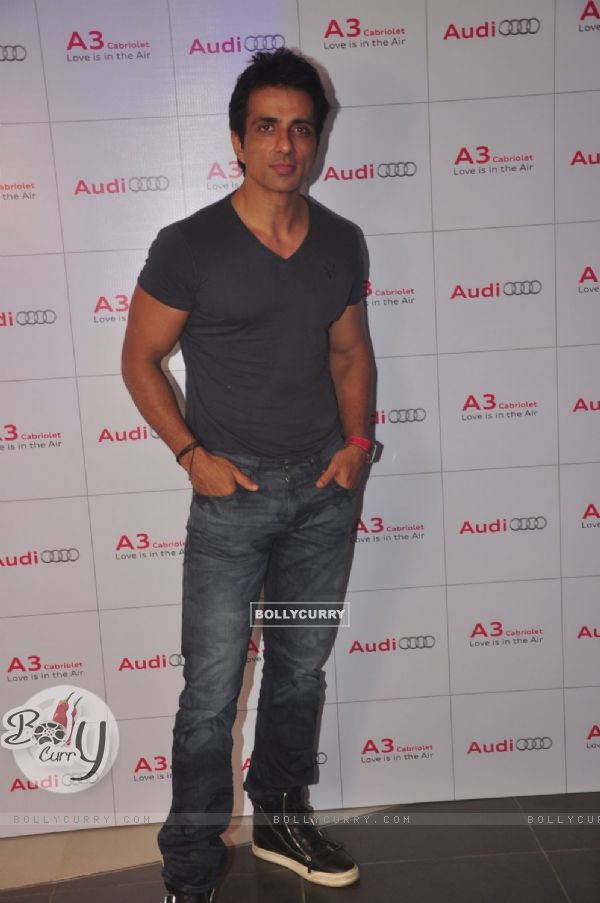 Sonu Sood poses for the media at the Launch of Audi A3