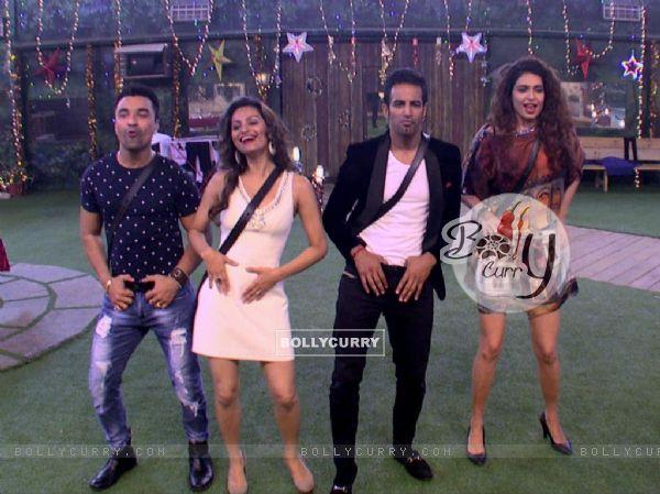 Contestants perform in Bigg Boss 8
