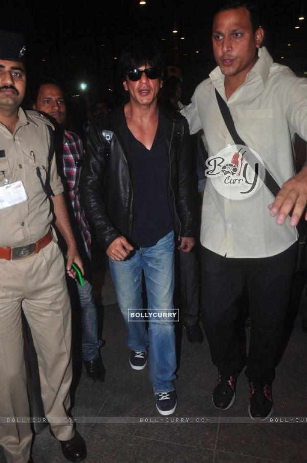 Shah Rukh Khan was snapped at Airport