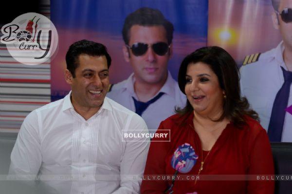 Salman Khan and Farah Khan on Bigg Boss 8