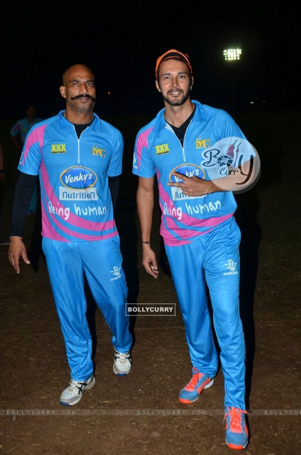 Rajneesh Duggal poses for the media at CCL Practice Session
