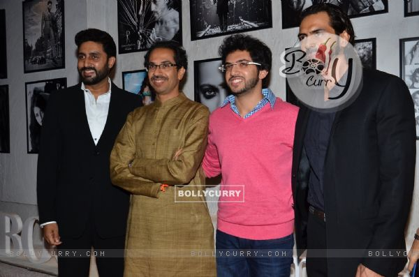 Celebs pose for the media at Dabboo Ratnani's Calendar Launch