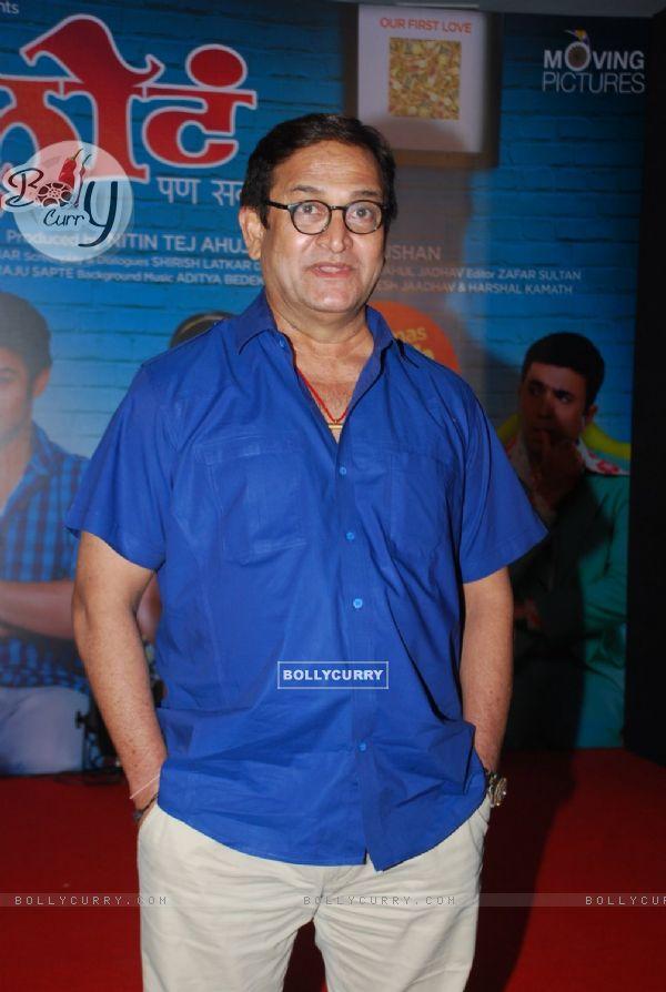Mahesh Manjrekar poses for the media at the Music Launch of Marathi Movie Sata Lota Pan Sagla Khota