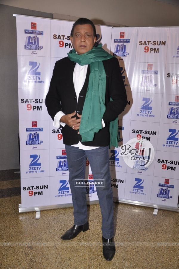 Mithun Chakraborty poses for the media at the Promotions of Hawaizaada