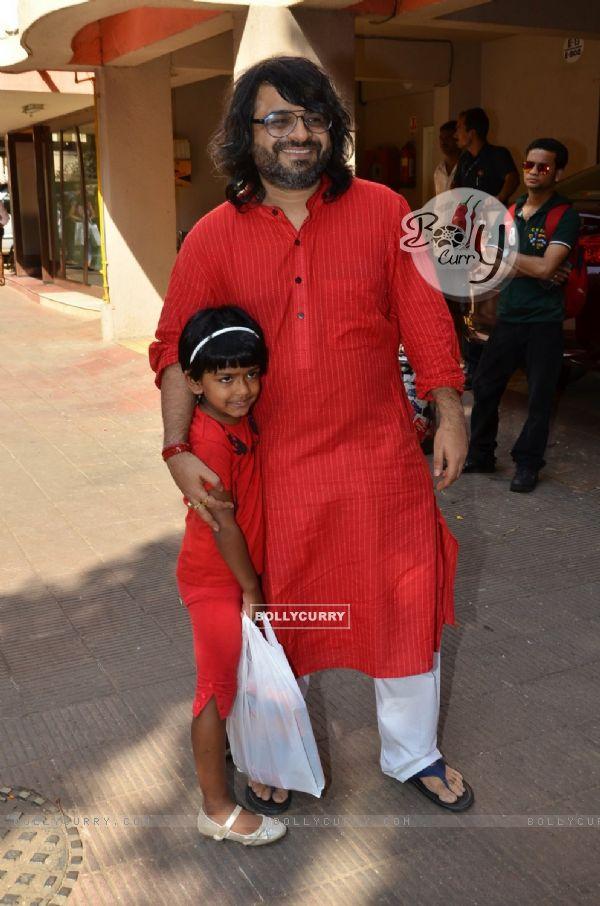 Pritam Chakraborty was at Anurag Basu's Saraswati Pooja