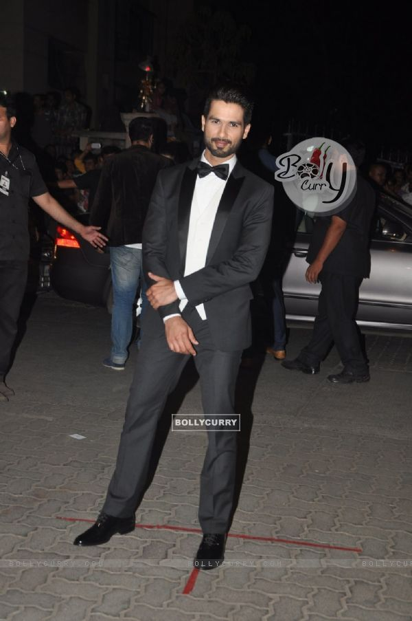 Shahid Kapoor was at the 60th Britannia Filmfare Awards