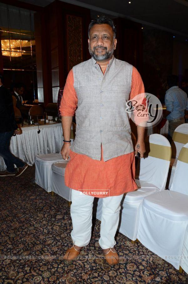 Anubhav Sinha poses for the media at Irshad Kamil's Book Launch
