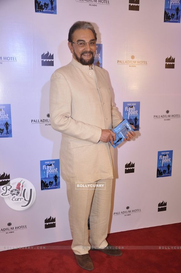 Kabir Bedi poses for the media at the Launch of Farhad Samar's Book 'Flash Point'