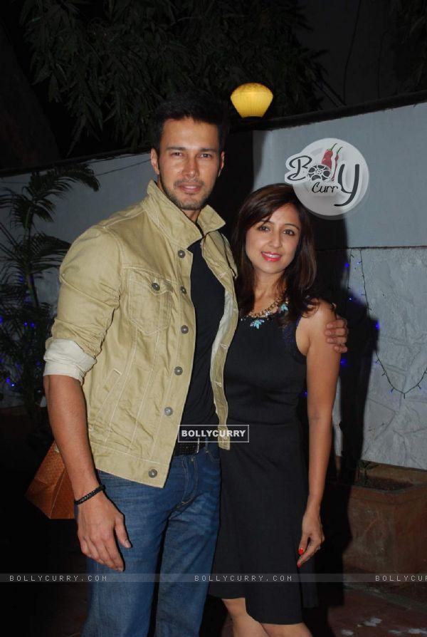 Rajneesh Duggal with his wife at Gurmeet Choudhary's Birthday Bash