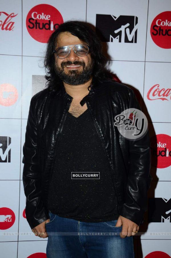 Pritam Chakraborty poses for the media at the Launch of MTV Coke Studio