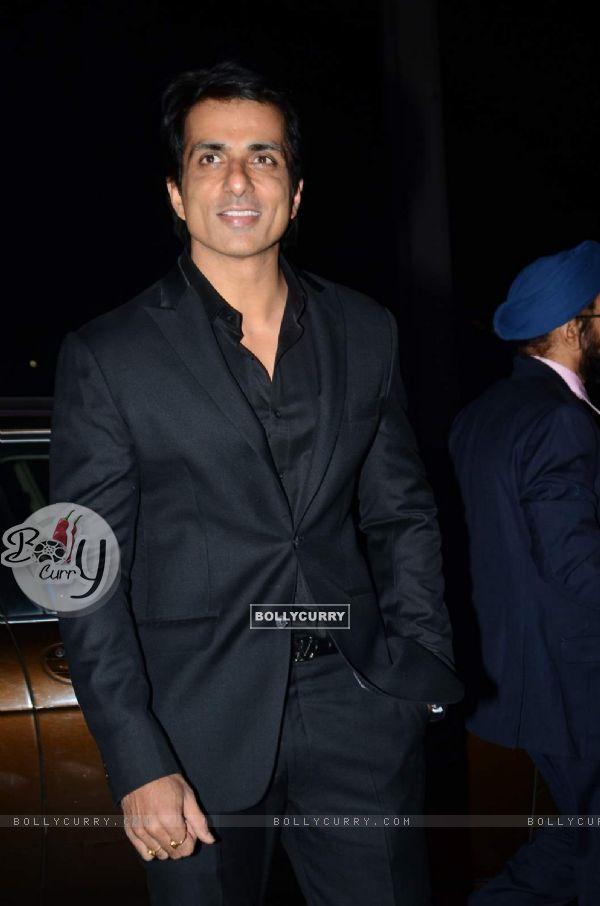 Sonu Sood was seen at Tulsi Kumar's Wedding Reception