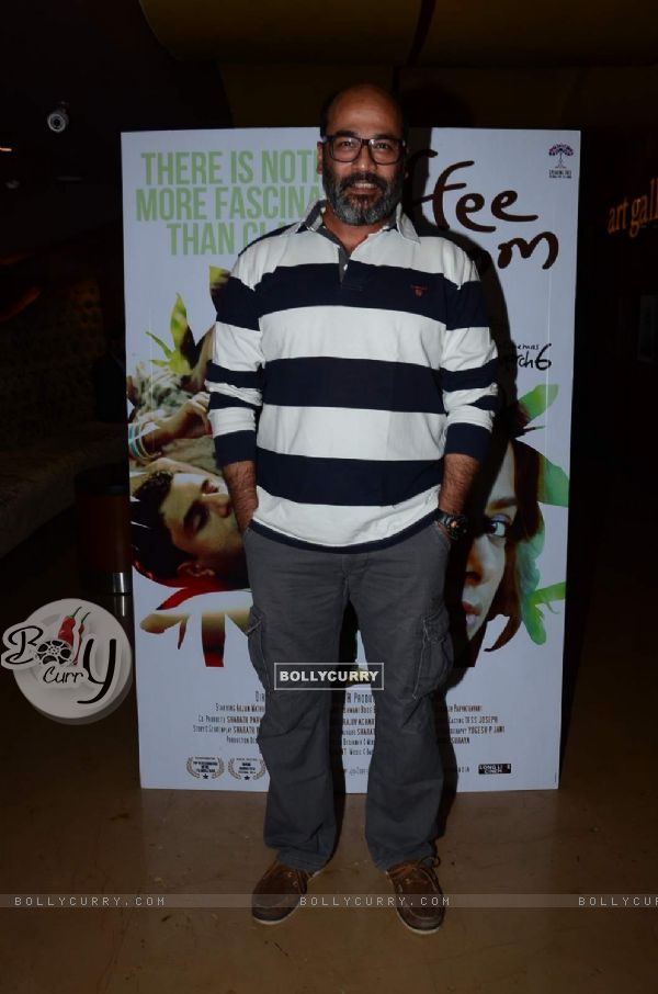 Mohan Kapur poses for the media at the Premier of Coffee Bloom