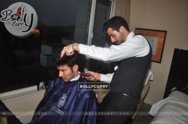 Rajneesh Duggal gets ready at Smile Foundation Charity Fashion Show with True Fitt and Hill Styling