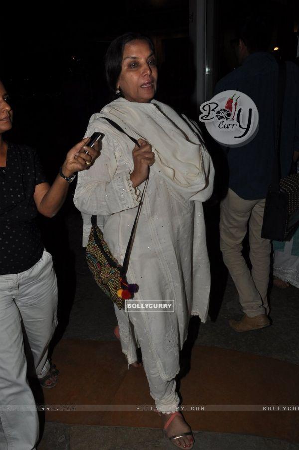 Shabana Azmi was seen at the Censor Issues Meet
