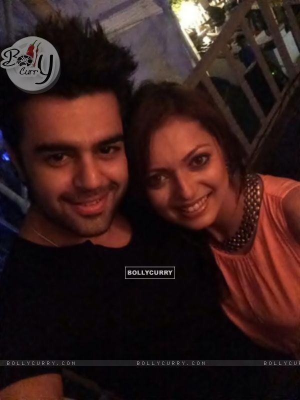 Drashti Dhami with Manish Taul