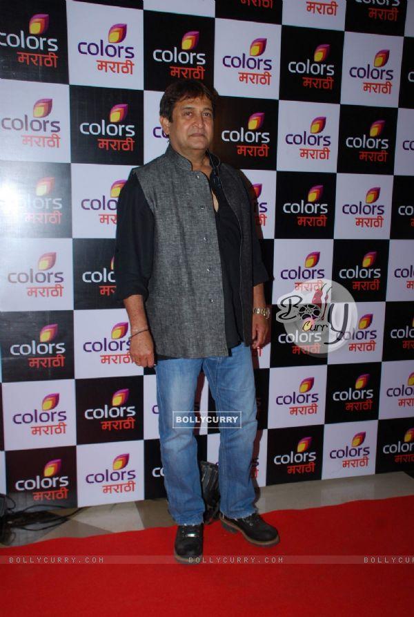 Mahesh Manjrekar poses for the media at the Launch of Colors Marathi