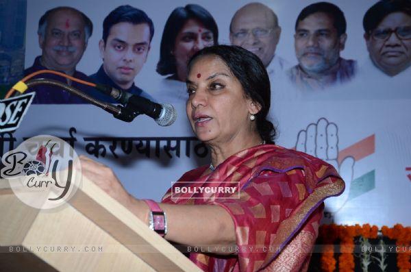 Shabana Azmi addresses the Political Event