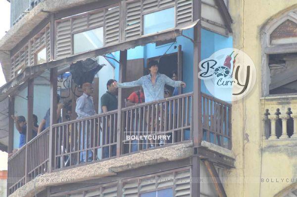SRK shoots for 'FAN' in South Mumbai!