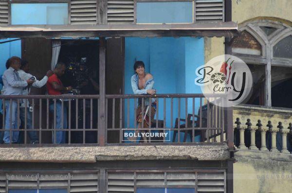 Shah Rukh Khan at the shoot of his upcoming movie 'FAN' (361192)