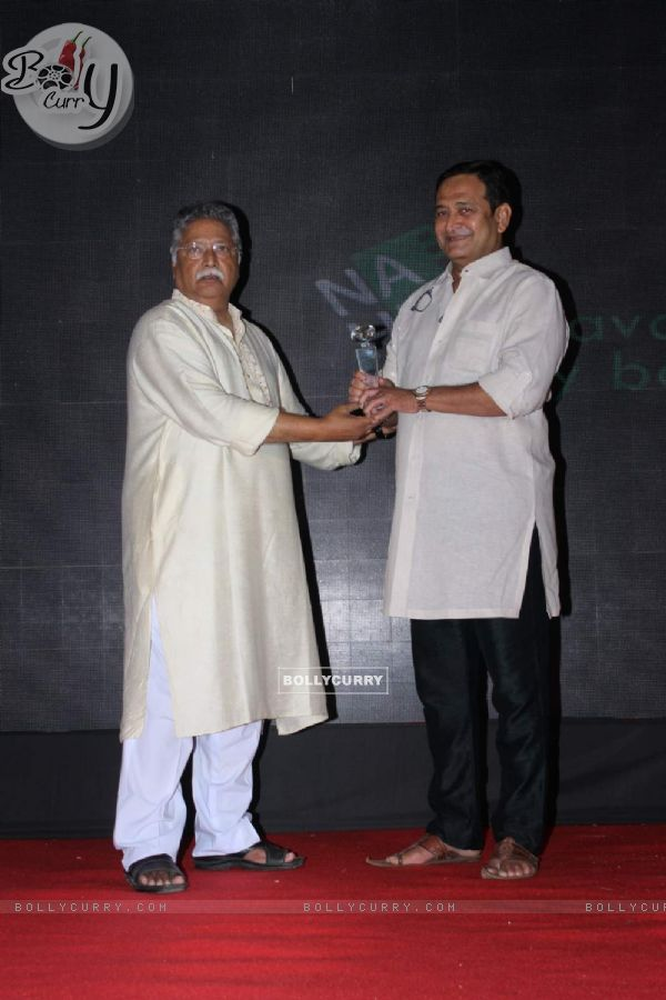 Vikram Gokhale and Mahesh Manjrekar at  Music Launch of Siddhant