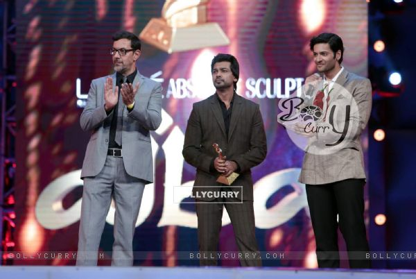 Rajat Kapoor, Nikhil Dwivedi and Ali Fazal at AIBA Awards
