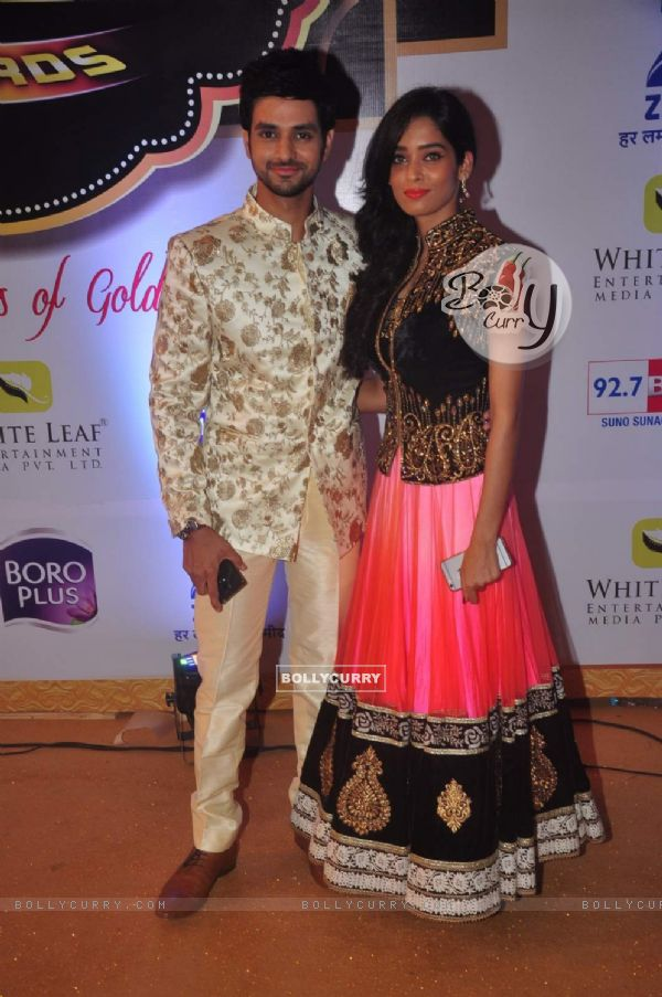Shakti Arora and Neha Saxena at Gold Awards