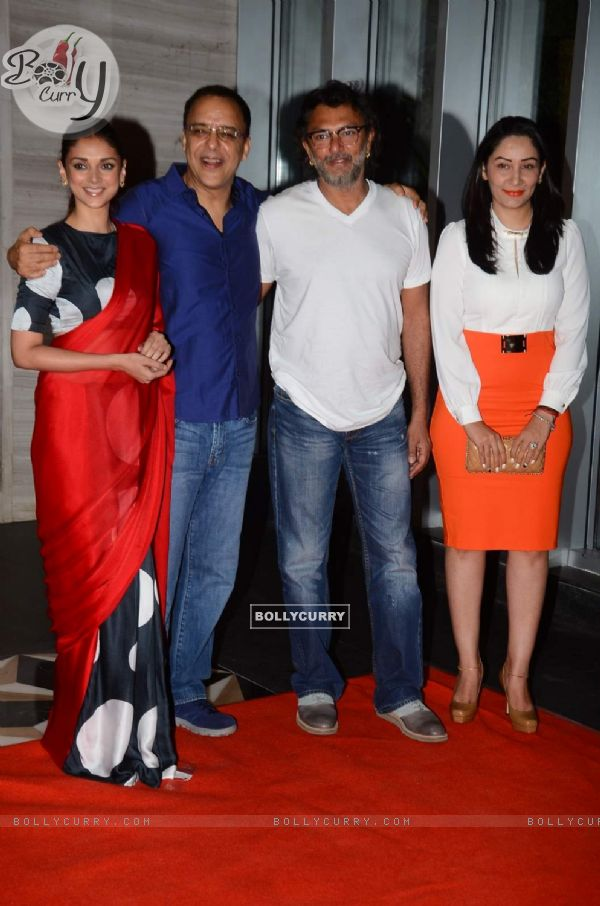 Aditi Rao Hydari, Vidhu Vinod Chopra, Rakeysh Mehra and Manyata Dutt at Success Bash of PK