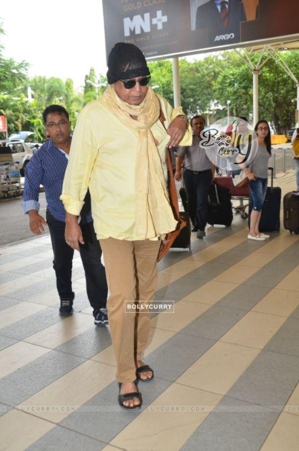 Mithun Chakraborty Snapped at Airport