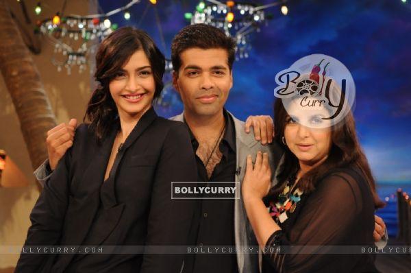 Karan Johar, Farah Khan and Sonam Kapoor